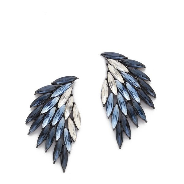 Juliet & Company Cerise Earrings found on Polyvore featuring jewelry, earrings, accessories, blue, blue multi, earrings jewelry, multi colored earrings, wing earrings, colorful jewelry and wing jewelry
