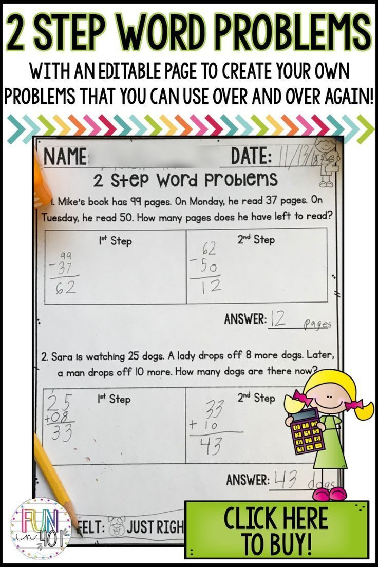 - Editable Two Step Word Problems Practice With Boxes Word