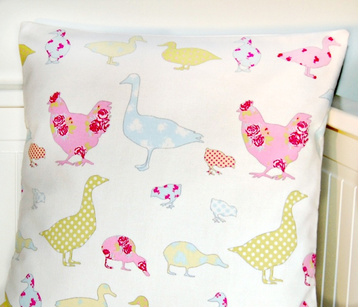 16 inch pink duck egg yellow cushion cover. £13.90, via Etsy. | Cute!