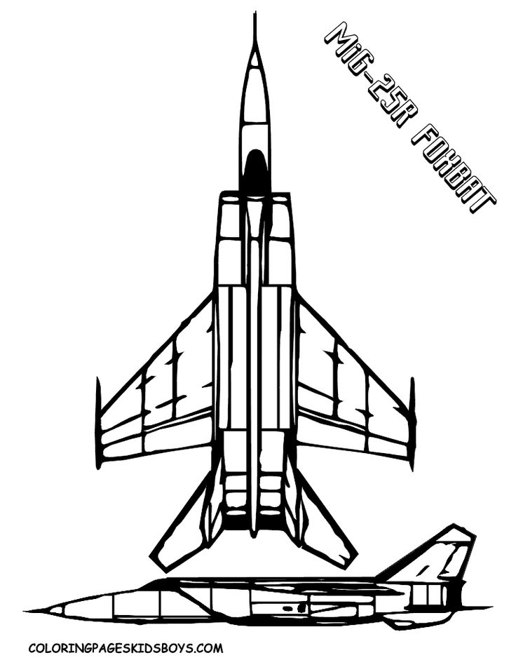 jet army man coloring pages | MiG-25R Foxbat (Mach 3.2) Top 10 Military Fighter Jets ...