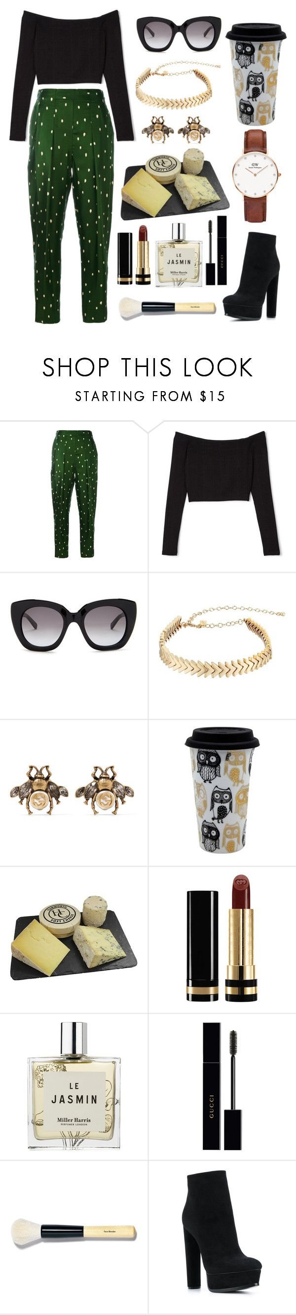 """""""Fancy Pants"""" by alissapovar ❤ liked on Polyvore featuring 3.1 Phillip Lim, Kate Spade, Rebecca Minkoff, Gucci, TMD, Miller Harris, Bobbi Brown Cosmetics, Casadei and Daniel Wellington"""