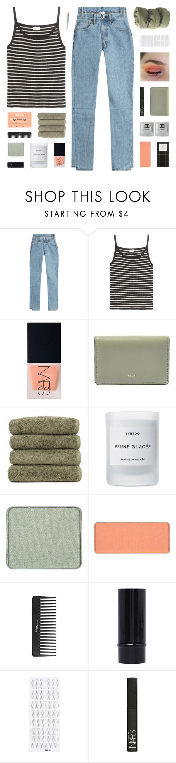 """""""- know we didn't end this so good, but you know we had something so good"""" by p-ureness ❤ liked on Polyvore featuring Vetements, Yves Saint Laurent, NARS Cosmetics, Chloé, Linum Home Textiles, Byredo, shu uemura, Sephora Collection and Tweezerman"""