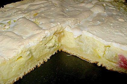 Rhabarber - Quark - Kuchen unter Baiserhaube 1