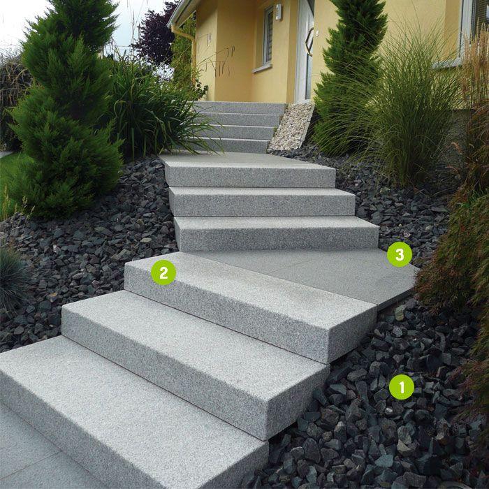 Cubik Mineral Outdoor Pierres Naturelles Et Amenagements Paysagers Pour La Decoration Des Jardins P Granit Gris Escalier Exterieur Beton Escaliers Paysagers
