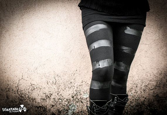 Hey, I found this really awesome Etsy listing at https://www.etsy.com/listing/209842887/kuro-black-leggings-stripes-nomad