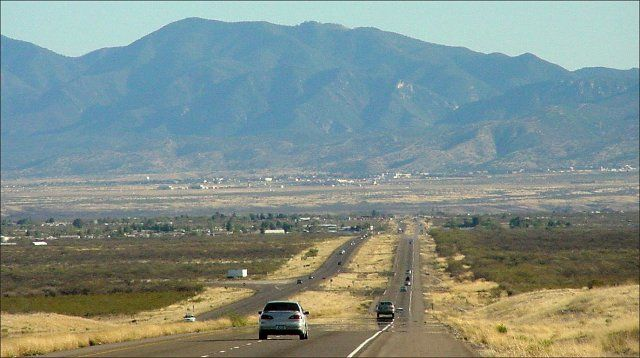 The drive from Fort Huachuca into Sierra Vista, AZ Visited daughter, who was in the military, and her family