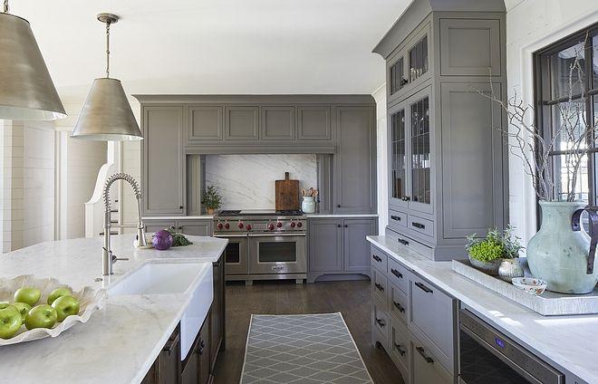 Chelsea Gray Hc 168 Benjamin Moore Grey Kitchen Cabinet Chelsea Gray Hc 168 Benjamin Moore C Transitional House Kitchen Cabinets Painted Grey Kitchen Cabinetry