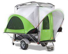 This is the most unique camping and travel trailer you'll ever find. The GO was designed from the frame out to be a one-of-a-kind mobile adventure trailer that's even more versatile than a Swiss Army knife. It's lightweight and easy to manage in the parking lot, garage or on the road. Weighing in at 800 lbs, the GO can be pulled by even the smallest cars.