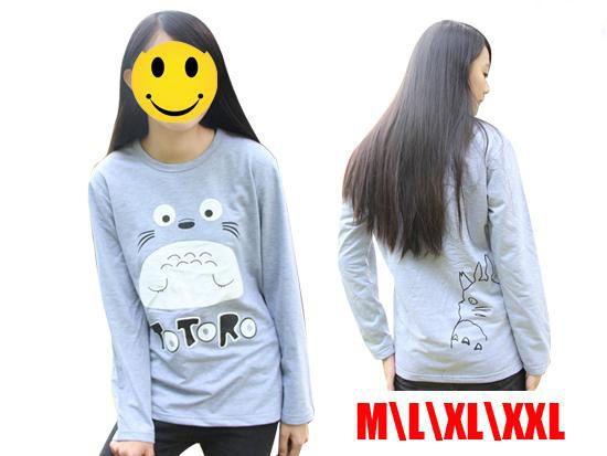 Totoro Unisex T shirt long sleeves My Neighbor Totoro