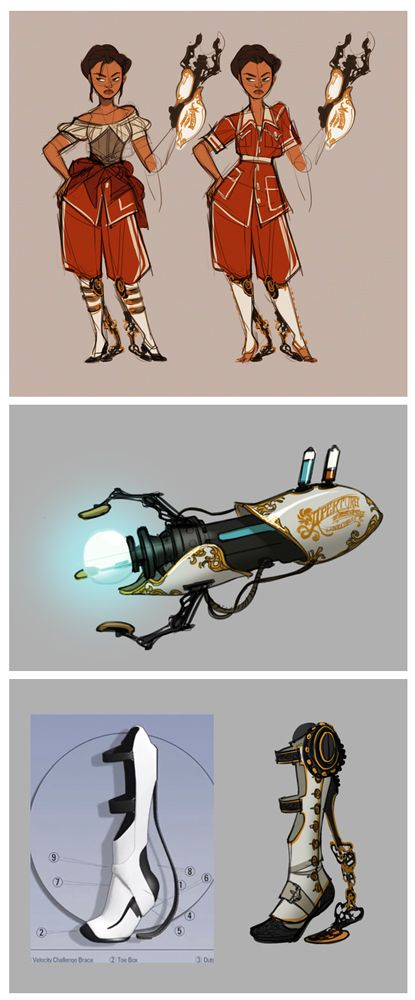 Steampunk Chell. Does anyone know the artist?