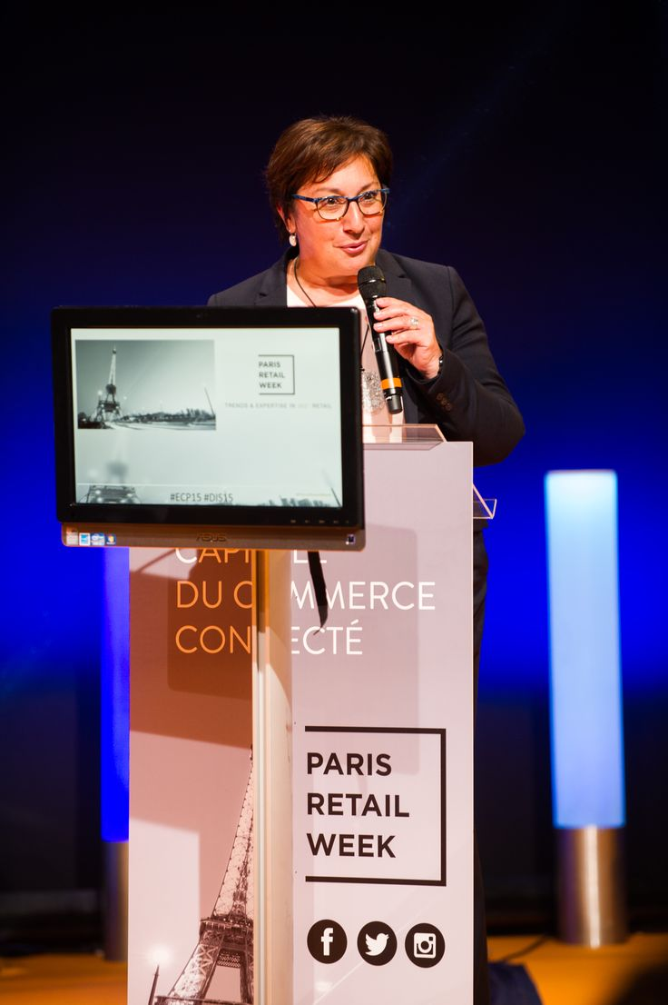 Speech of Martine Pinville, French Secretary of State in charge of commerce, during the E-Commerce Awards Ceremony. #ECP15 #ParisRetailWeek #AWARDS
