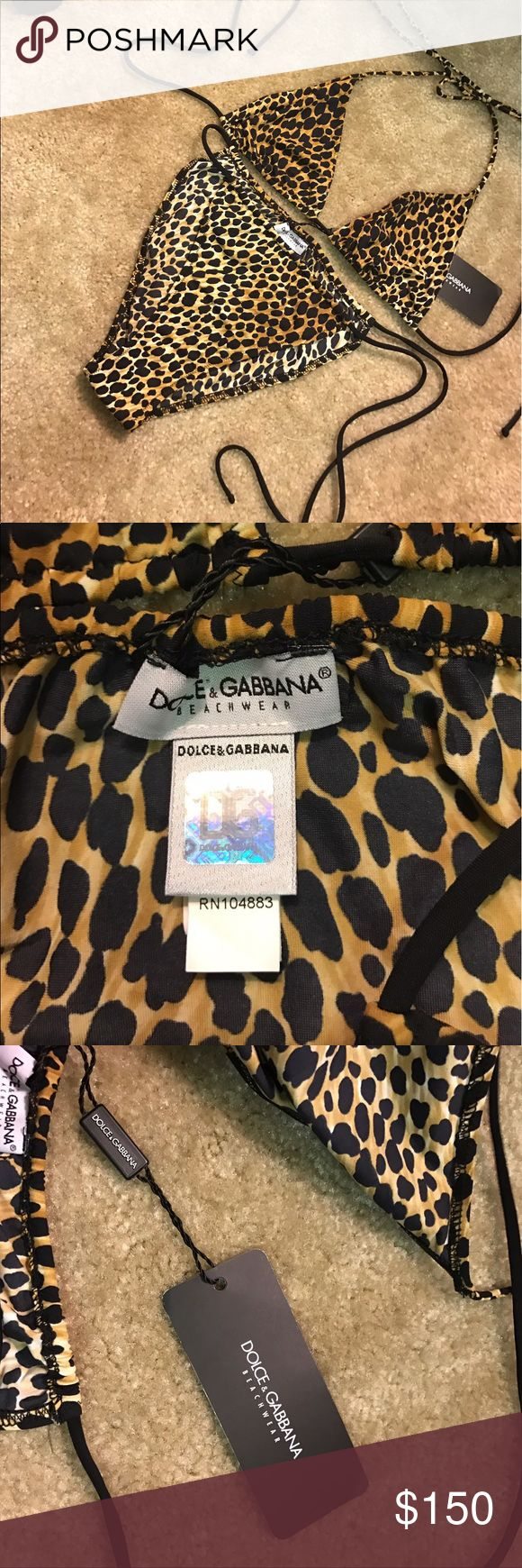 Dolce and gabbana swimsuit Leopard Dolce and gabbana swimsuit Leopard brand new with tags size large but runs small European final sale NO TRADES NO PAYPAL NO LOWBALLING Dolce & Gabbana Swim Bikinis