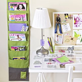 store their magazines and notebooks