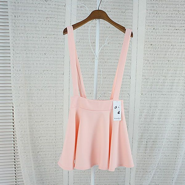 Elegant-Womens-Waist-Suspender-Skirt-Pastel-Skater-Flared-Pleated-Mini-Dress