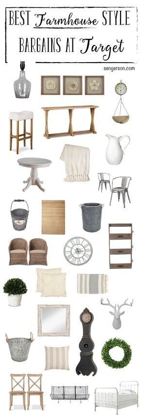 Farmhouse Decor Fixer Upper Decor Steals at a Bargain. All from /target/ from blogger at http://www.sengerson.com. Amazingly thorough roundup!