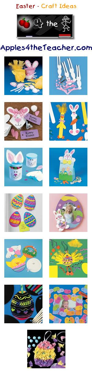 Fun Easter crafts for kids - Easter craft ideas for children. http://www.apples4theteacher.com/holidays/easter-fun/kids-crafts/
