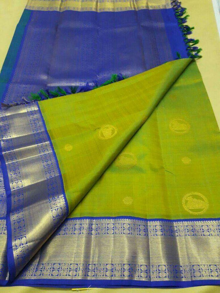 Nandi motif silk saree - Vasthram Silk
