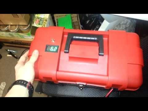 This is a 12 volt ~35Ah (U1 size battery) setup. It will be used in a really old 17 foot Coleman canoe. The box used allows for one battery to be held in pla...