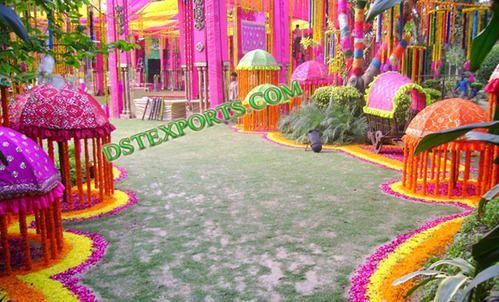 Indian wedding umbrella decor