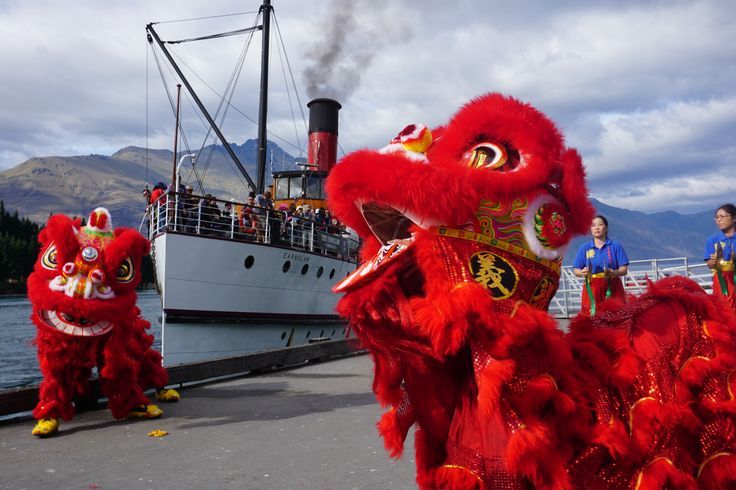 The TSS Earnslaw was just treated to a traditional Chinese Lion Dance - Happy Chinese New Year everyone!! #CNY2016