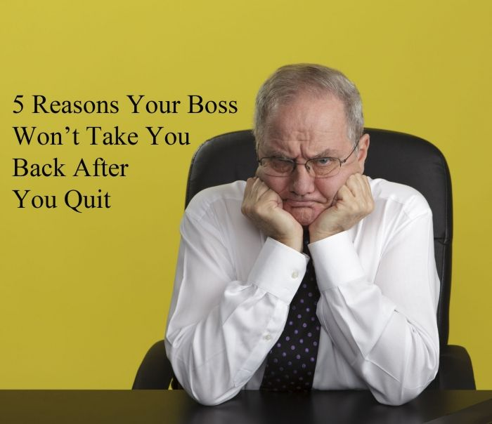 5 Reasons Your Boss Won't Take You Back After Quitting - Evil HR Lady | wisecareers.com