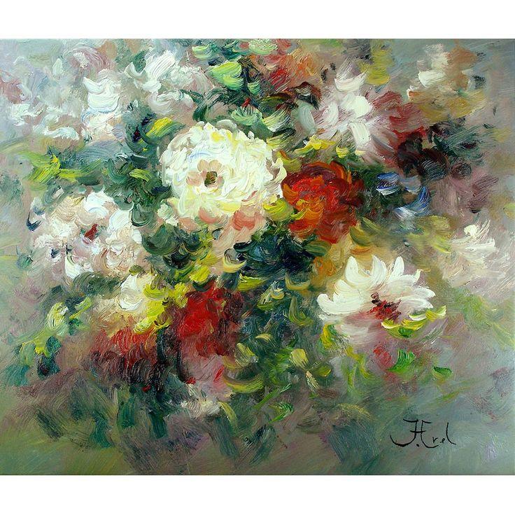 Bloemenschilderij Mixed Roses Rozen bloemenschilderijen Unica voor bereikbare kunst