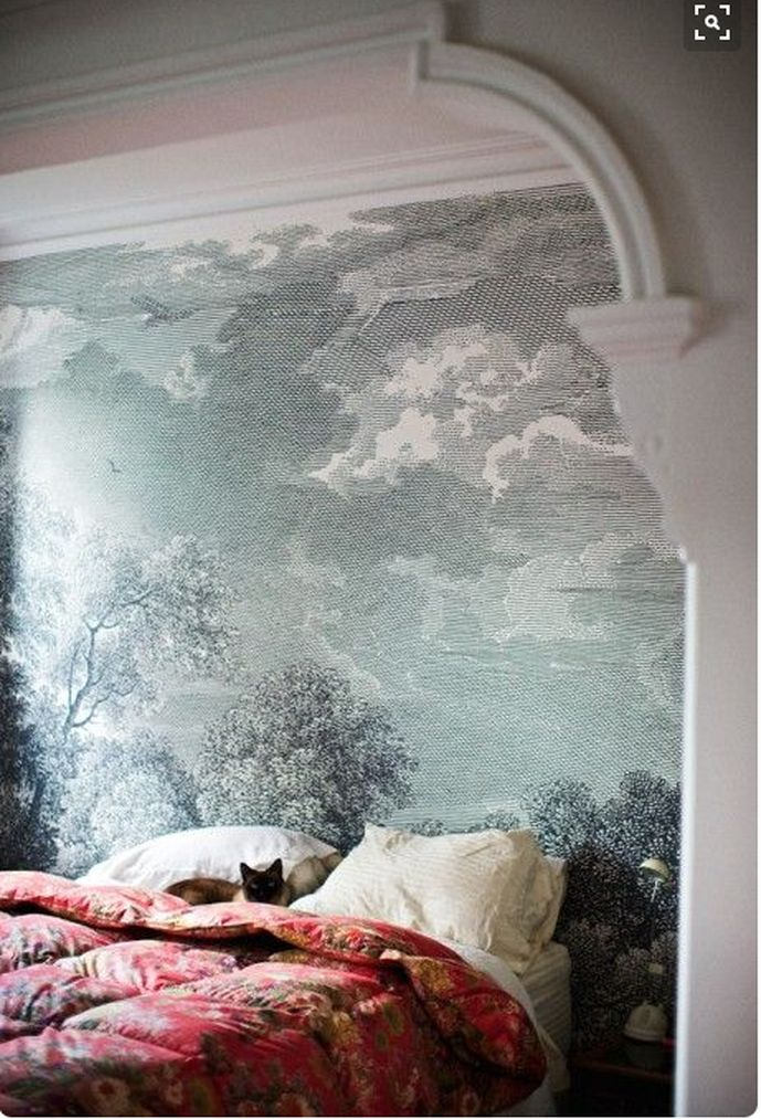 33 best mural wallpaper inspo images on pinterest for Anthropologie wallpaper mural