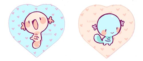 Wooper, my fav pokemon! Drawn for a keychain design. Keychain is double sided with a regular wooper on one side and a shiny wooper on the other! It is for sale now in my store.