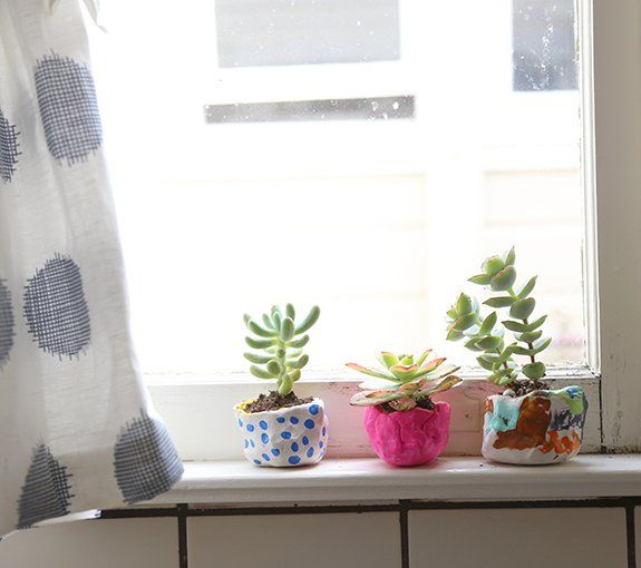 Mini Painted Clay Pots