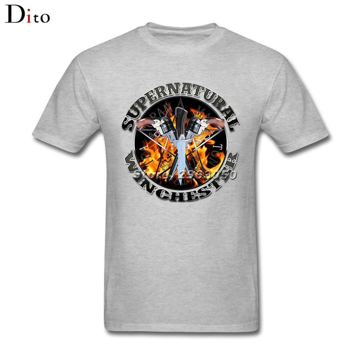 Supernatural winchester Hell Bound silver T Shirt Men Boy Free Shipping Short Sleeve Crewneck Cotton Plus Size Couple  T Shirts #Affiliate