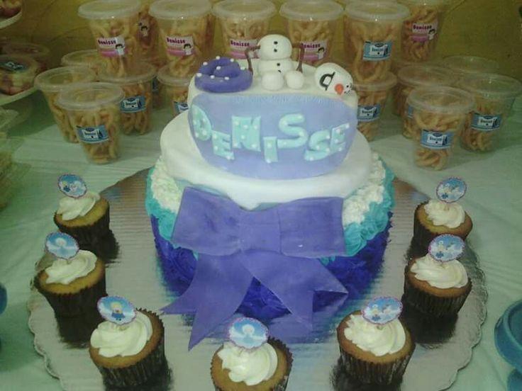 Frozen cake betun y fondant