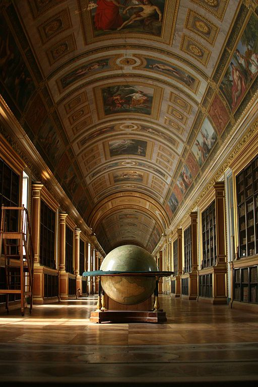 NAPOLEON'S LIBRARY at Fontainebleau Castle in Paris, France That globe . . .