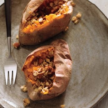 Baked Sweet Potato with Maple-Oat Crumble - Whole Living Eat Well