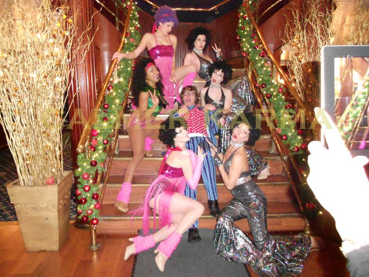 DISCO FEVER Choreographed disco dance troupes to hire for corporate events.  Austin Powers lookalike and his blow up leopard skin bed will add that extra bit of disco style! www.calmerkarma.co.uk Tel: 0203 602 9540