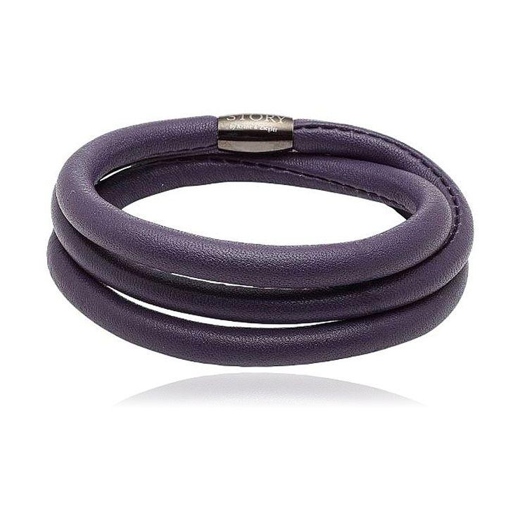 STORY Purple Lambskin Bracelet. $89.