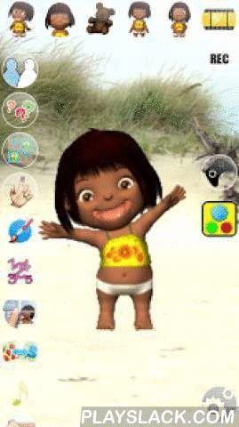 Talking Emily Baby  Android App - playslack.com ,  Praat met Emily de pratende baby. Antwoordt ze met haar grappige stem en reageert op wat je zegt of je aanraking. Met veel spannende binnen games.Kenmerken:✔ Hoge kwaliteit 3D-graphics✔ Cool spraakbediening✔ Spannende spellen✔ grappige animaties: lach, scheten, drankjes uit de fopspeen, slaapt, vliegt als een fee, etc.✔ Fun for allExtra content en games:★ Kids verf: Super vermakelijke hulpmiddel om te proberen een beeld te tekenen met je…