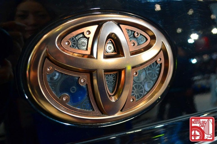 A Very Interesting And Unique Toyota Logo With Clockwork