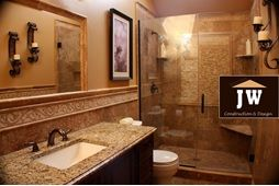 The #bathroom remodeling professionals at #JW Construction and Design Services make updating your bathroom stress-free and affordable.  Visit: http://www.jwconstructionanddesign.com/bathroom.html