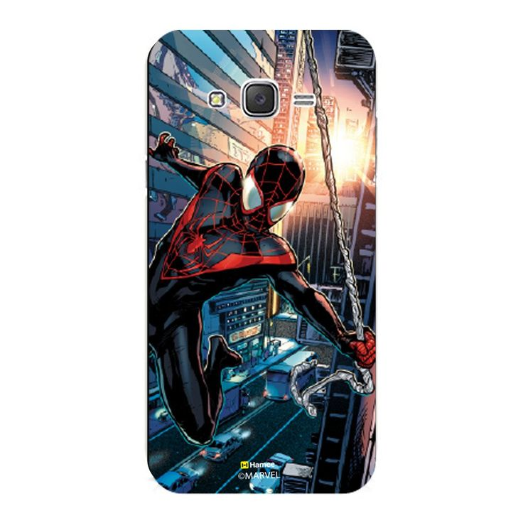 Hamee - Black Spiderman - Ultimate Spider Man Official Marvel Cover for Samsung Galaxy S8