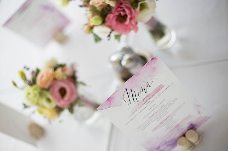 Ani&Szili wedding - lavender decoration - menu card