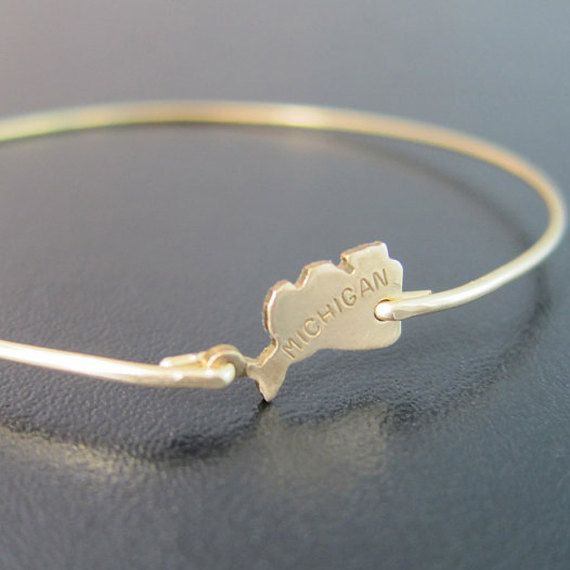 Hey, I found this really awesome Etsy listing at https://www.etsy.com/listing/169322536/michigan-state-bracelet-state-of