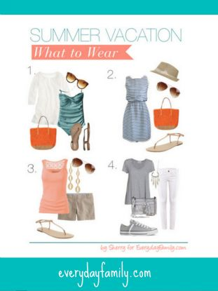 Having summer vacation style means packing smart while also having some fun with what you are wearing. Here are some ways to meet both of those needs.