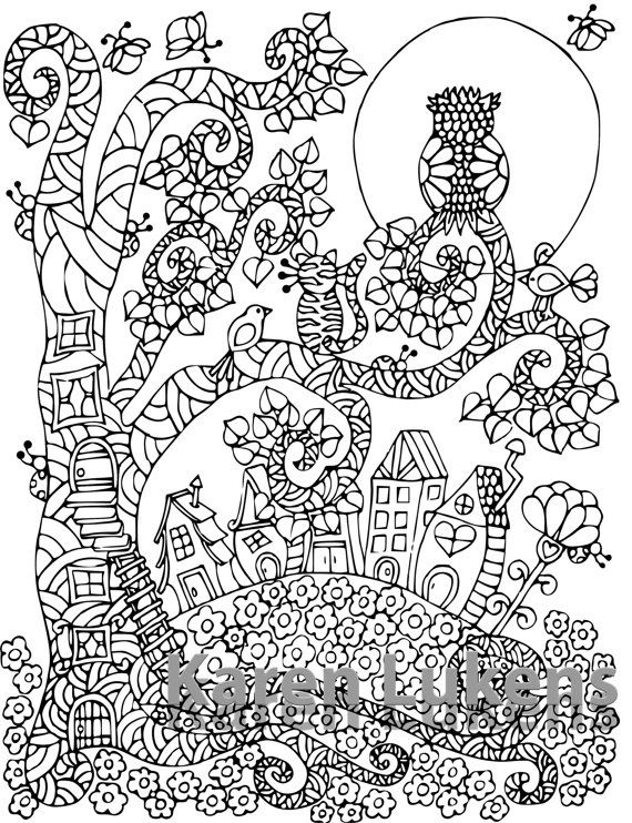 Pin By Coloring Pages For Adults On Garden Coloring Pages