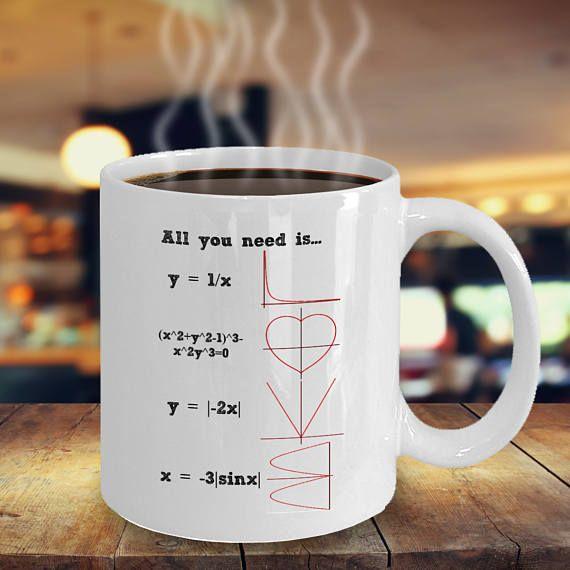 Awesome All You Need Is LOVE   Engineer Mug   I Love Math