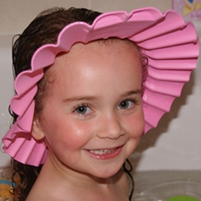 Kid's Shampoo Cap keepsshampoo and water out of baby's and toddler's eyes and ears during bath or shower time. https://www.thtshopping.com/product-page/4akid-shampoo-cap-pink-rabbit