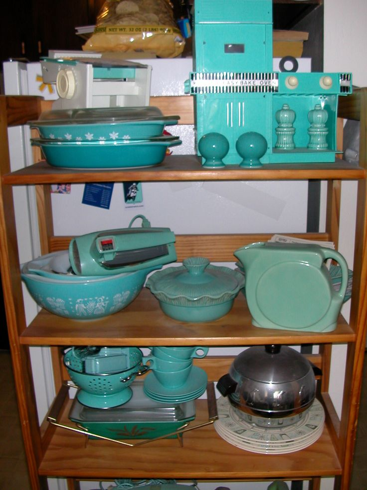 DROOLIN! This Lady Has Some Awesome Vintage Turquoise Kitchen Gadgets And I  Want All Of