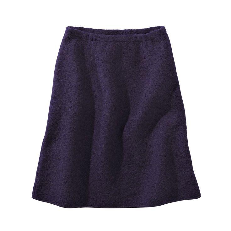Enna fairtrade Wollen rok donker paars wollen skirt dark purple