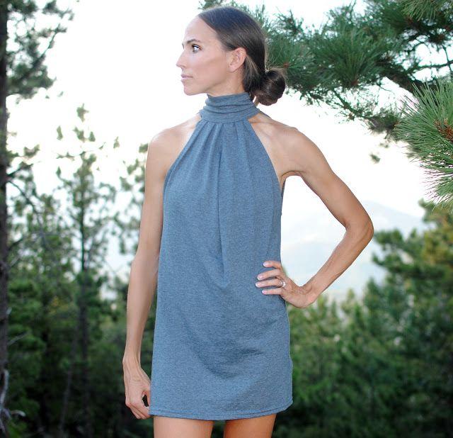 DIY Choker Dress from T-Shirt