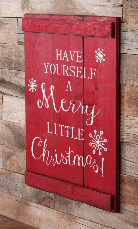 Large Wood Sign Have Yourself A Merry Little by dustinshelves