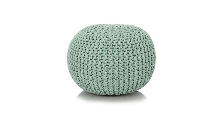 Buy George Home Duck Egg Blue Knitted Pouffe from our Footstools & Pouffes range today from George at ASDA.